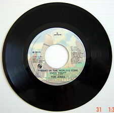 ONE 1981'S 45 R.P.M. RECORD, TOM JONES, THE THINGS THAT MATTER MOST TO ME + WHAT