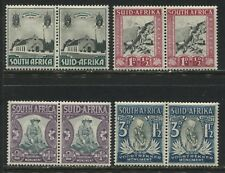 South Africa 1933-36 Voortrekker Semi-postal set in pairs mint o.g.
