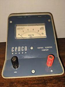 Vintage D.C. VOLTS Meter CENCO Central Scientific Company CAT. NO. 82421-003