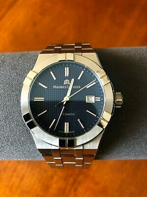 Maurice Lacroix AIKON Automatic 42MM Blue Dial plus extra leather strap