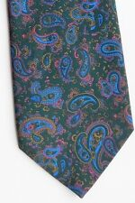 Charles of London green Paisley tie made in the UK