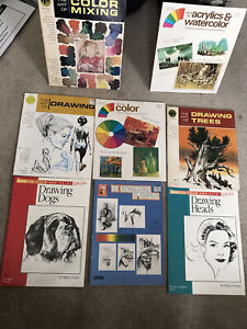 8 How To: (paint, draw, art  stuff) mixed lot of 8 art books