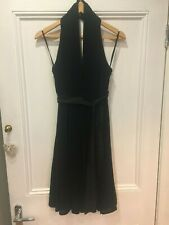 COAST - Stunning black halter neck dress, size 8, Midi length. A-line skirt. New