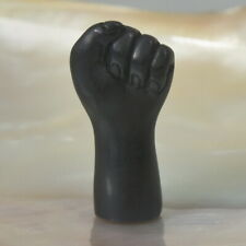 Fist Mano Hand Gesture for Amulet Charm Black Ebony Wood Hand-Carved 1.40 g