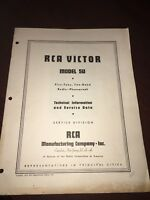 RCA Victor 5U Technical Manual Service Data