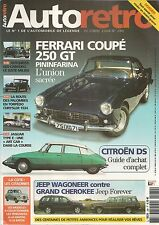 AUTO RETRO 280 FERRARI 250 GT CITROEN DS HOTCHKISS 680 CABOURG VOLVO 240 JAGUA E