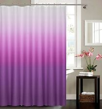 Waffle Fabric Weave Shower Curtain With 12 Matching Metal Roller Shower Hooks