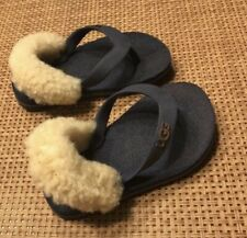 Sheepskin Uggs Toddler Boy Flip Flops