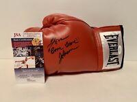 "Tom ""Boom Boom"" Johnson signed Everlast boxing glove. JSA Certified"