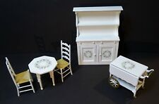 SUPER Dollhouse Miniature Furniture Kitchen Set 5 Pcs Signed Joab Cupboard 1980s