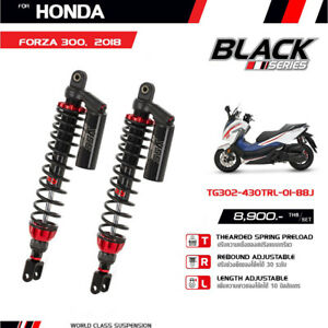 HONDA FORZA-300 18-2021 TWIN SHOCKS YSS BLACK SERIES G-SPORT TG302-430TRL-01-88J