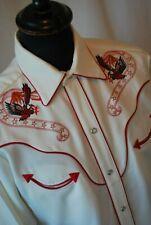 Vintage H bar C California Ranchwear Bald Eagle cowboy shirt size medium western