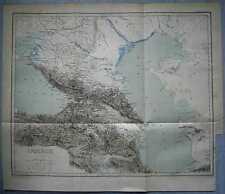 1881 Reclus map CAUCASUS (#8)