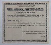 India 1949 Aruna Mills share certificate UNUSED