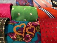 Lot 49 Pounds Lbs Mens Mix Neckties Quilt Craft Resell Wholesale Bulk Tie Lots