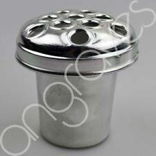 Silver Metal Grave Vase with Lid (4.5 Inch) For Fresh and Artifical Flowers Pot