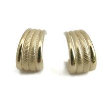 Macaroni Lightweight 14K Yellow Gold Huggie Earrings, .75 Inch Drop, 3.97 Grams