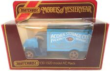 "VINTAGE MATCHBOX ""MODELS OF YESTERYEAR"" Y30 1920 MODEL AC MACK 'ACORN STORAGE CO"