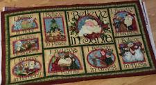 I Believe In Santa By Nancy Halvorsen  Fabric Panel