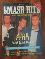 Smash Hits Mag - July 1987 - A-HA, Pet Shop Boys, Crowded House, Bowie, Madonna!