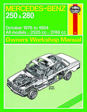 0677 Haynes Mercedes-Benz 250 & 280 123 Series (Oct 1976 - 1984) Workshop Manual