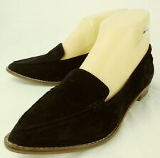 Aldo Womens Shoes Loafers US 6.5 Black Suede Slip-on Moc Toe Pointy    4801