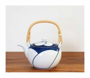 Hakusan Porcelain Japanese Dobin Tea Pot Nejiri Ume Hasami Ware Japan Tracking