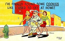 "VINTAGE 1930-40s Comic ""I've FINALLY Found Some COOKIES Like I Used To Get.."" PC"