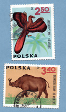 POLAND stamps 1966 Prehistoric Animals. SG1644 / SG1645