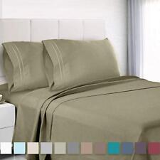 Premium King Sheets Set Color SAGE Hotel Luxury 4-Piece Bed Set (i)