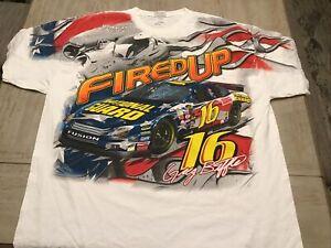 Vintage NASCAR Greg Biffle National Guard Racing Total Print Shirt XXL Roush