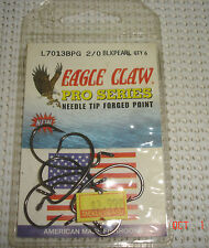 Eagle Claw Pro Series Needle Tip Forged Point 2/0 L7013Bpg - 6 Pack