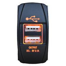 5V 3.1A LED Ámbar Doble USB Coche Cargador Power Socket Para iPhone 5/5S 6/6S Plus