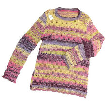 TRICOT FAIT MAIN - PULL MANCHES LONGUES - TAILLE 10 ANS