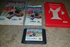 Monopoly ( Sega Genesis, 1992 ) COMPLETE Cardboard box style