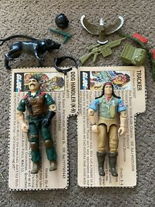 Vintage GI JOE 1984 Spirit And Mutt Near complete With FILECARD Most Acc