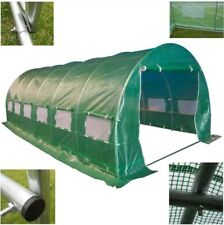 New EXTRA LARGE 6mx3m Polytunnel Galvanised Frame Greenhouse Pollytunnel 2 doors