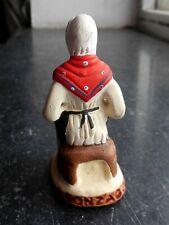 Santon en terre cuite peint Gonzague - Femme assise 7cm