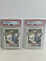 1989 Topps Traded Troy Aikman Rookie #70t PSA 9 Lot Of 2 Dallas Cowboys HOF
