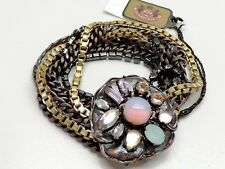 Juicy Couture Flower Multi Strand Bracelet Mixed Metal New! NWT