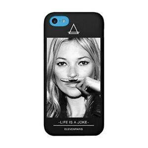 Hülle Apple IPHONE 5C Elevenparis Kate Moss Schwarz + 1 Schutz (Berührung Gum)