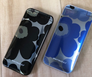 NTT docomo marimekko Collaborated Cellphone Prototype UNIKKO Blue & Black Set