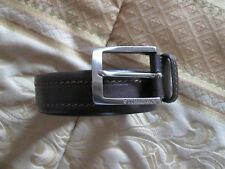 Cintura LUMBERJACK misura 105/120 vera pelle marrone made in italy nuova