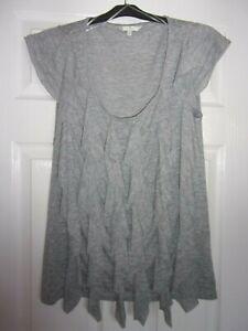 Jasper Conran Grey Waterfall Effect Front T-shirt, Size 12
