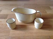 Poole Pottery Braodstone 2 Egg Cups 1 Gravy Boat.
