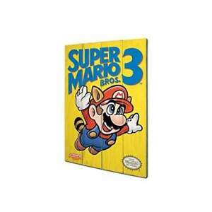 IMPRESSION SUR BOIS SUPER MARIO BROS 3 NEW