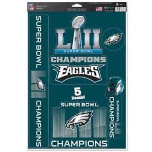 Philadelphia Eagles Super Bowl LII 5-Pack Multi-Use Decals WinCraft