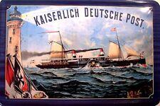 Barco de vapor imperial deutsche post chapa escudo Escudo Tin sign 20 x 30 cm