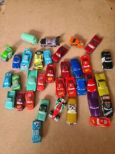 Disney Pixar Bundle Job Lot of Diecast Cars - Cars / Cars 2 -  34 Cars in Total