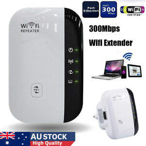 Wireless WiFi Repeater Router Signal Booster Range Extender 300Mbps AU Plug